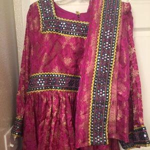 Dresses & Skirts - Pink Afghan dress
